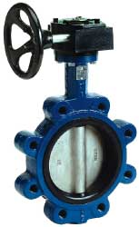 BFVL Lug Style Flanged Butterfly Valve Gear Operator landing