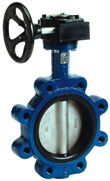 BFVL Lug Style Flanged Butterfly Valve Gear Operator