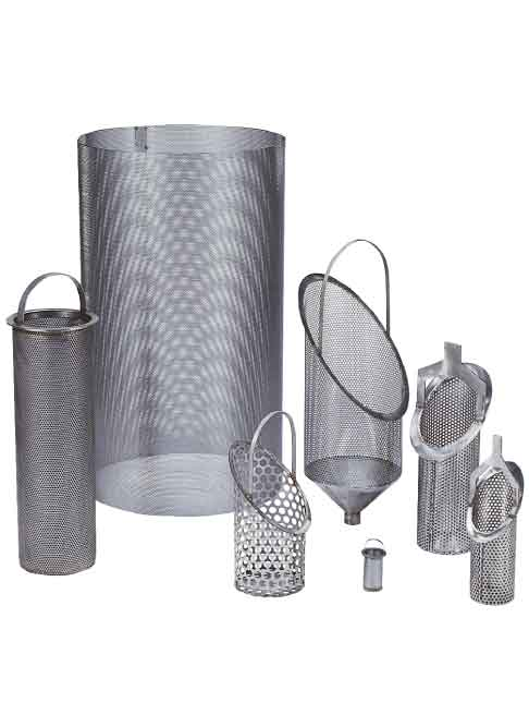 These are Custom Basket Strainers for Sure Flows Fabricated Basket Strainers