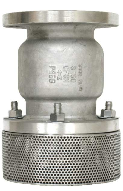 Sure Flow FV125SS Steel Silent Seat Foot Valve with Flanged End