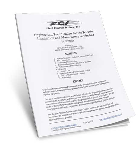PDF of Engineering Specification Selection Installation Maintenance Pipeline Strainers Sure Flow