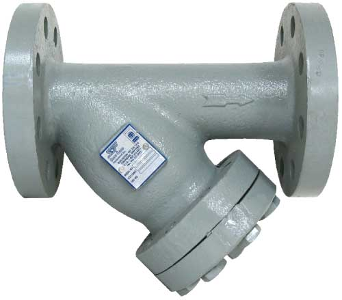 Sure Flow Equipment YF300 Cast Steel and YF300SS Cast 316 Stainless Steel Class 300 Flanged End Connections Y Strainer