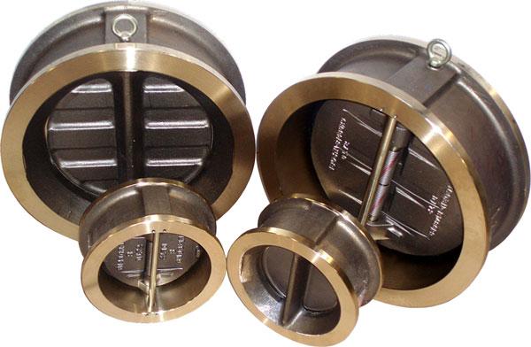 Sure flow bronze dual disc wafer check valves