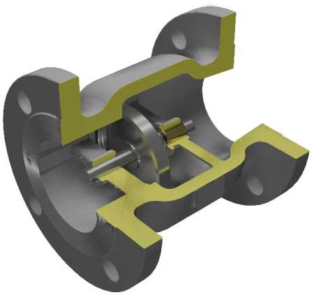 3D check valve cutaway Sure Flow