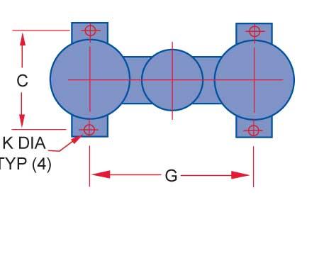 mounting layout 5 6 8 inch duplex strainer Sure Flow