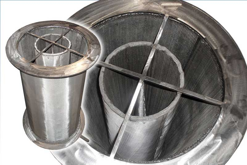 Compact 4-ft SS Cone Strainer, Open Area 300%. Provides compressed effective flow area equivalent to a 20-ft long Cone Strainer