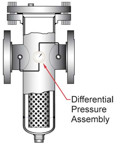 Sure Flow strainer with differential pressure connections
