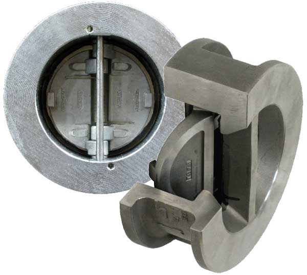 retainerless double door check valve