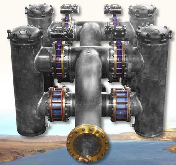 Dual Basket Strainer Assemblies with Elephant Trunk Inlet