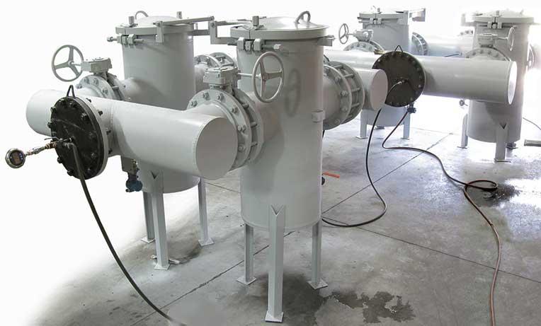 Hydrostatic Testing on Custom Fabricated Two Dual Basket Strainers