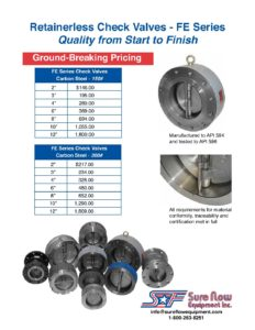 check valve sales pricing flyer sure flow equipment sure flow
