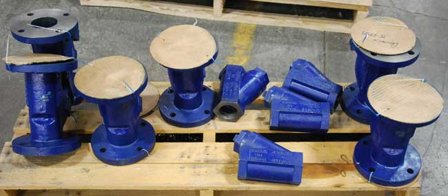 variety of strainers ready to ship