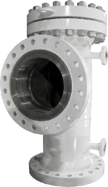 TWA Tee Strainer with offset inlet outlet