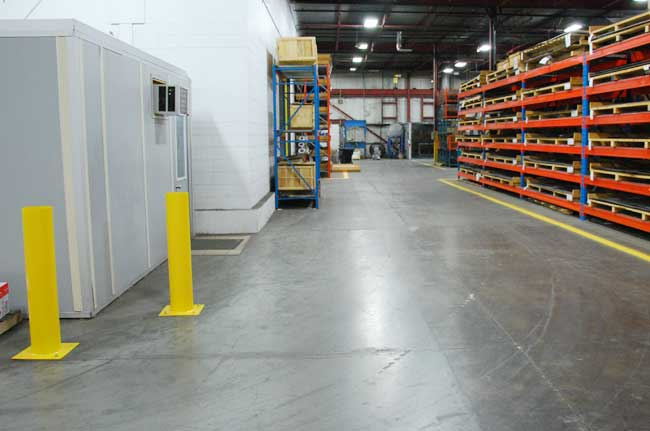 safe laneways for fork lift traffic at Sure Flow
