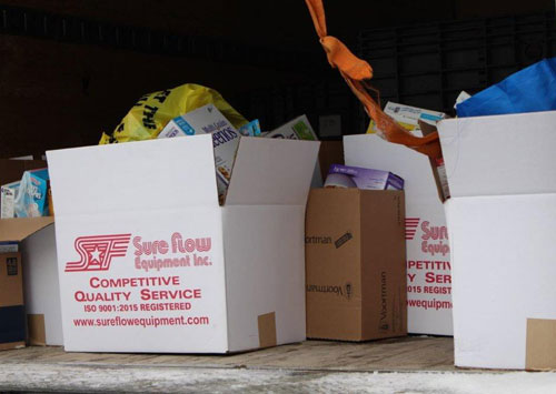 Sure Flow 2019 Food Drive contributions