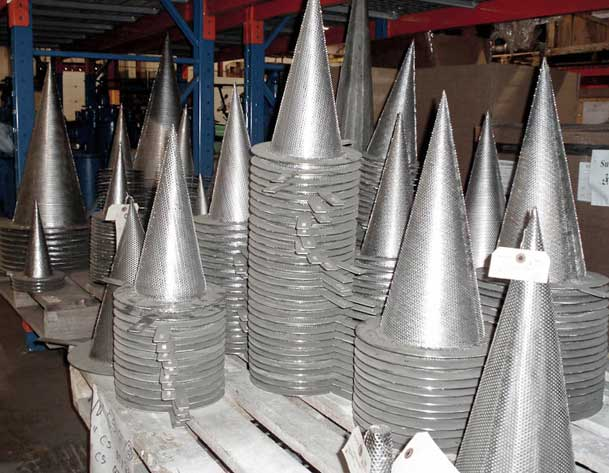 pallet full of Sure Flow cone strainers