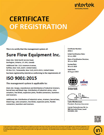 ISO 9001:2000 Global Certificate